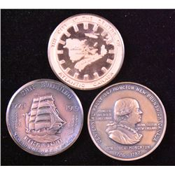 New Brunswick Medal - Lot of 3