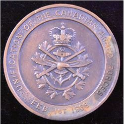 Unification of the Canadian Armed Forces Medal, 1968