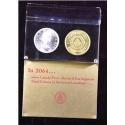 1864 - 1964 Canada Silver Dollar Acrylic Canada Trust Promo