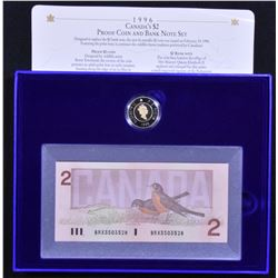 $2 Proof Coin and BRX Replacement Note Set, 1996