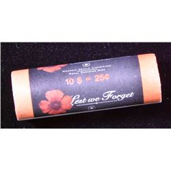 Original Rare Roll - 2004 25 Cent Poppy 'Lest we Forget'