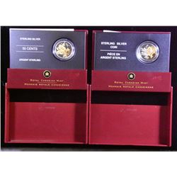 2005 Golden Rose & 2006 Golden Daisy Fifty Cents - Lot of 2