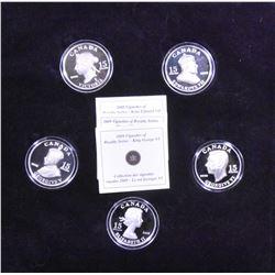 Complete Set of 2008-2009 Royal Vignette Silver $15 Coins