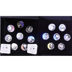 Complete Set of 15 Vancouver Olympic $25 Sterling Silver Coins