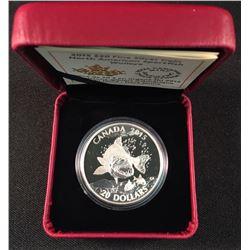 2015 - .9999 Fine Silver $20.00 Coin 'Walleye'.