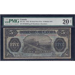 Dominion of Canada $5, 1912