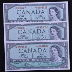 Bank of Canada $1, 1954 Replacement Notes - Lot of 3