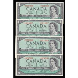 Bank of Canada $1, 1954 Replacement Notes - Lot of 4