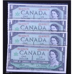 Bank of Canada $1, 1967 Lot of 2 Replacement Pairs