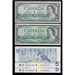 Lot of Four Bank of Canada Replacement Notes