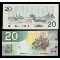 Radar Bank of Canada $20, 1991 & 2004