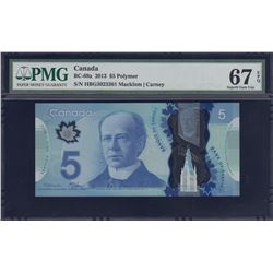 Bank of Canada $5 Changeover Note, 2013