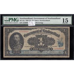 Government of Newfoundland $1, 1920