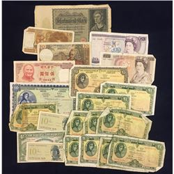 Foreign Banknotes - Lot of 21