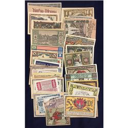 German Genuine Emergency Money 'NOTGELD' Circa 1916-1924 Lot