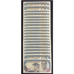 Bank of Zambia 10 Kwacha, 1989 - Lot of 20