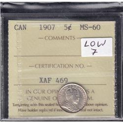 1907 Five Cents