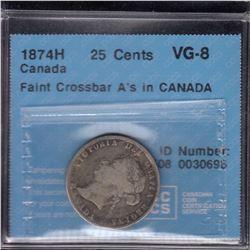 1874H Twenty-Five Cents