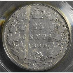 1880H Twenty-Five Cents