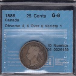 1886 Twenty-Five Cents