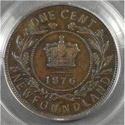 1876H Newfoundland One Cent