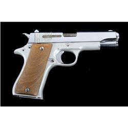 Star SA BKS Cal. 9mm 1911 Nickel Semi-Auto Pistol