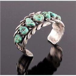Navajo Sterling Silver Turquoise Nugget Bracelet
