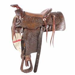 Helena Saddlery Company Expertly Tooled Saddle