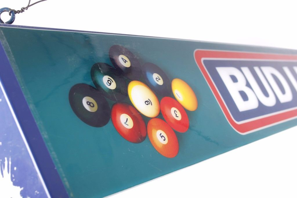 Bud Light Beer Billiards Table Fluorescent Light