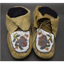CREE BEADED MOCCASINS