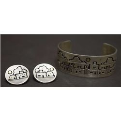HOPI BRACELET AND EARRINGS (CORIZ)