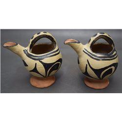 TWO SANTO DOMINGO POTTERY PITCHERS