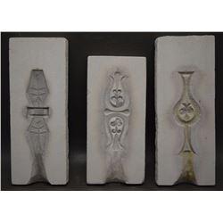 THREE NAVAJO TUFA MOLDS