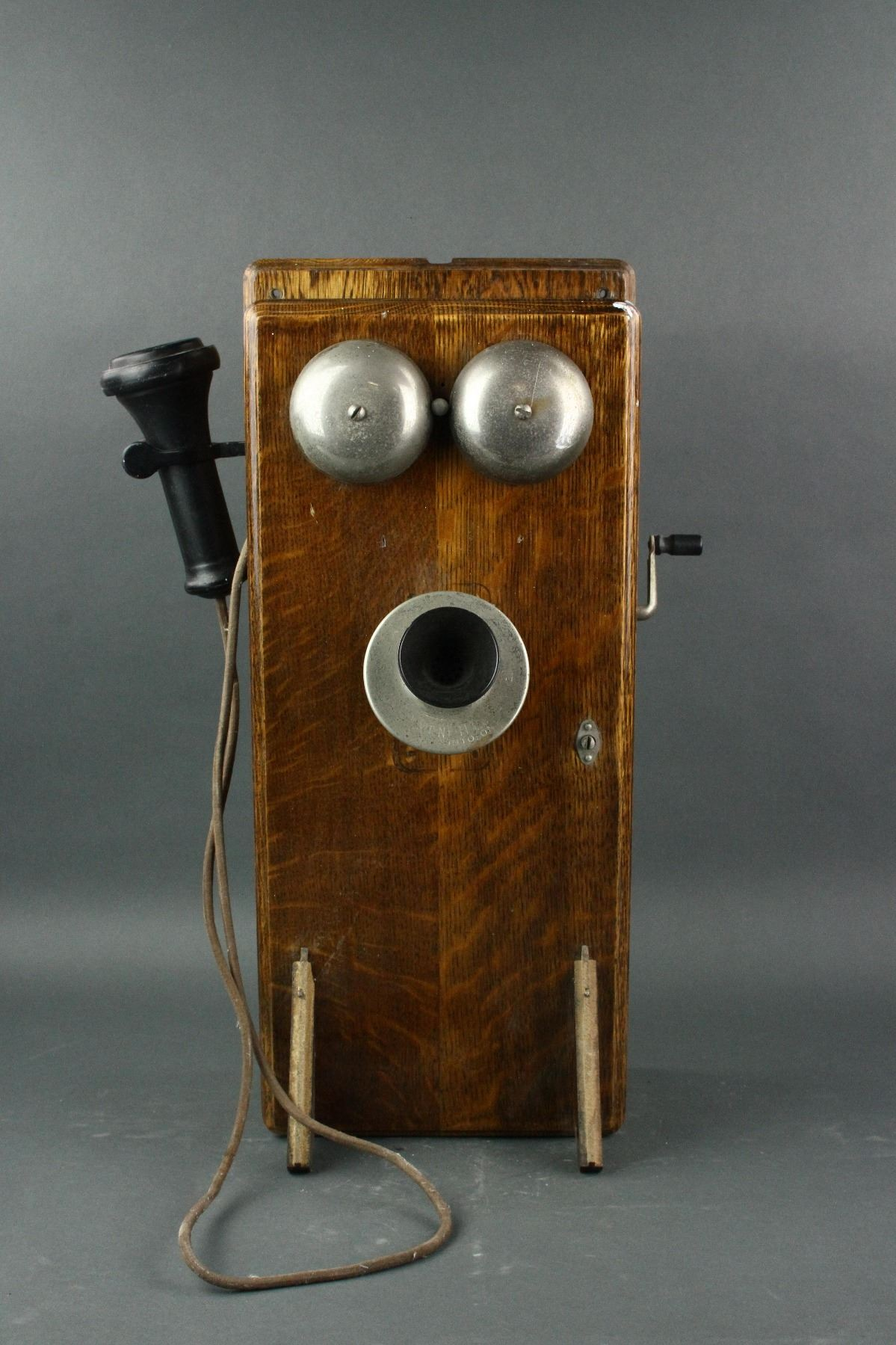 Canadian Antique Wall Telephone Set on