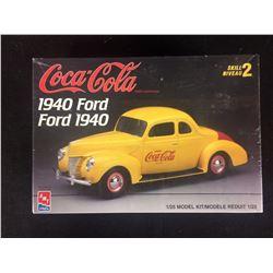 AMT 1940 FORD COUPE COCA-COLA COKE 1/25 MODEL KIT (UNBUILT)