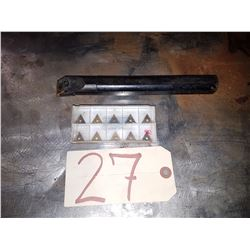 Boring Bar 1'' x 9'' TNMG 332 with inserts