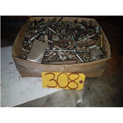 Box of Assorted Bolt & Steel pieces