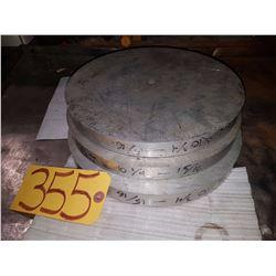Aluminum bloc 10''3/4 x 15/16'' with 1/2'' hole