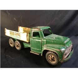 BUDDY L VINTAGE METAL TOY TRUCK, HEAVY MACHINERY SERIES, 20'' LONG