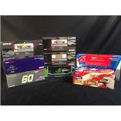 COLLECTION OF 8 SCALE MODEL REPLICA CARS, IN ORIGINAL PACKAGING, INC. CARS BY ACTION,