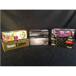 COLLECTION OF 6 SCALE MODEL REPLICA CARS, IN ORIGINAL PACKAGING, INC. CARS BY AA MOTORSPORTS