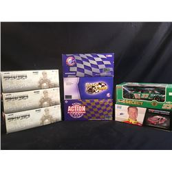 COLLECTION OF 8 SCALE MODEL REPLICA CARS, IN ORIGINAL PACKAGING, INC. CARS BY REVELL AND ACTION