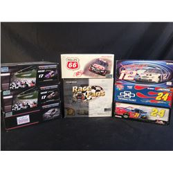 COLLECTION OF 8 SCALE MODEL REPLICA CARS, IN ORIGINAL PACKAGING, INC. CARS BY LIONEL, ACTION, AND