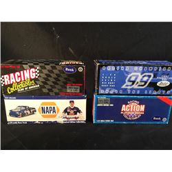 COLLECTION OF 4 SCALE MODEL REPLICA CARS, IN ORIGINAL PACKAGING, INC. CARS BY ACTION
