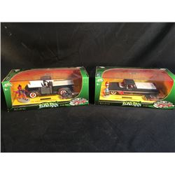2 COLLECTABLE ROAD RATS DIE CAST CARS, NEW IN BOX, INC. '53 CHEVY PICKUP, AND