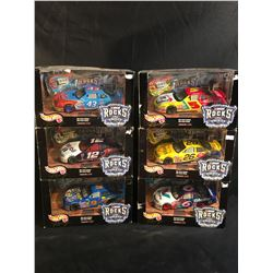 "COLLECTION OF 6 ""NASCAR ROCKS AMERICA"" SCALE MODEL DIE GUITAR CARS, WITH DIE CAST MATCHING ELECTRIC"