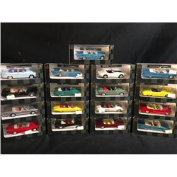 "COLLECTION OF 17 ""CITY CRUISER COLLECTION"" 1/43 SCALE DIE CAST MODEL CARS, IN ORIGINAL PACKAGING"