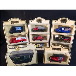 "COLLECTION OF 11 DIE CAST ""DAYS-GONE"" AND COMMEMORATIVE MODEL TRUCKS, MADE IN ENGLAND BY LLEDO, IN"