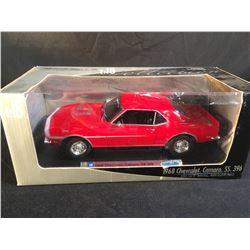 1968 CHEVROLET CAMARO SS396 DIE CAST 1:18 SCALE MODEL CAR, IN ORIGINAL PACKAGING