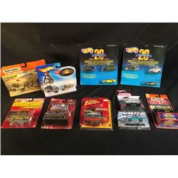 COLLECTION OF 10 ASSORTED TOY COLLECTABLE CARS INC. CARS BY MATCHBOX, JOHNNY LIGHTNING, AND MORE